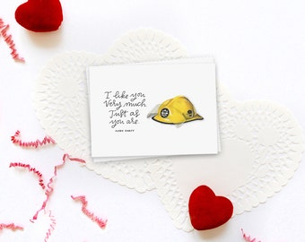 just as you are bridget jones' diary greeting card // valentine's day card // greeting card love // i like you very much
