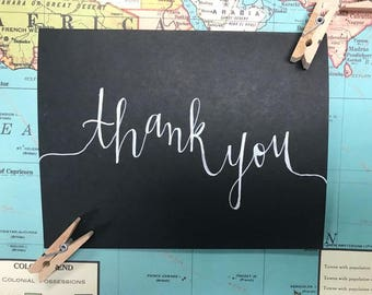 Custom Calligraphy Thank you Cards!