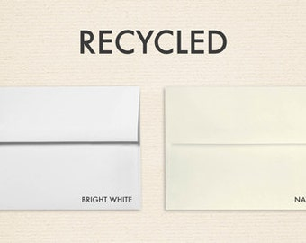 A6 Recycled Invitation Envelopes (4 3/4 x 6 1/2) - Pick A Color - Quantity of 50