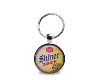 Vintage Shiner Bock Beer Key Chain or Pendant