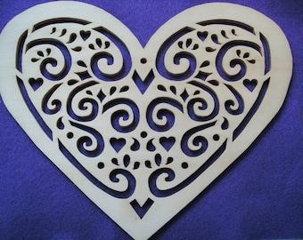 1 heart, wood, 24 x 19 cm (04-0002B)