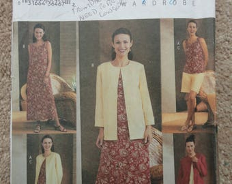 Butterick 3834 Ladies ensemble.  Size 14-16-18  2003