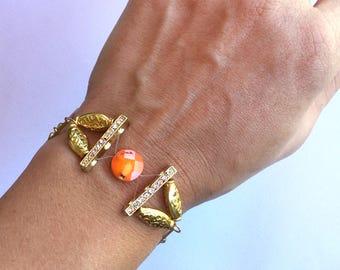 Handmade Goddess Bracelet, Floating, Gypsy, Festival, Unique, Rhinestone, Sexy, Boho, Summer, Beach, Rhinestone (Summer Crush Bracelet)