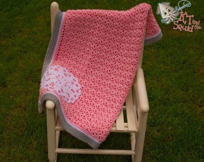 Crochet pattern, crochet blanket pattern, crochet girl afghan pattern, baby blanket pattern, security banket, okay to sell