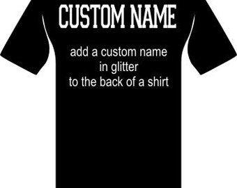 Custom Glitter Name Add On
