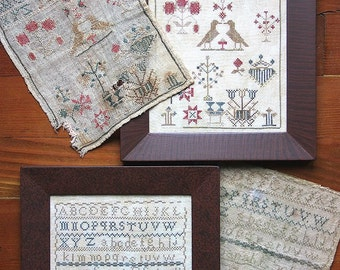 Sarah E Schall 1850 & Sarah's Companion (Two Faithfully Reproduced Antique Samplers) Cross Stitch Pattern
