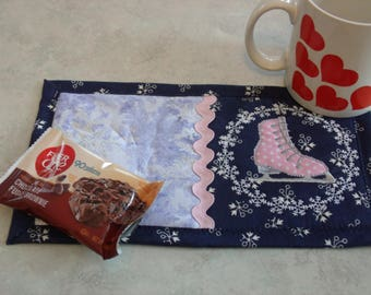 Winter Snack Mats,  Skate or Penguin, or Polar Bear
