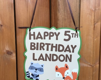 Woodland Critters Party Sign | Woodland Animals Sign | Birthday Sign | Forest Friends Party Sign | Woodland Party Decor | Woodland Critter