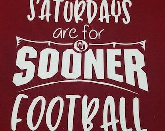 Saturdays are Football/college football/Sooner footballer tshirt