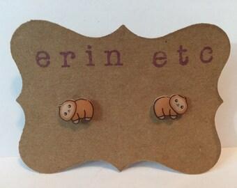 Handmade Plastic Fandom Earrings - Baby Sloth