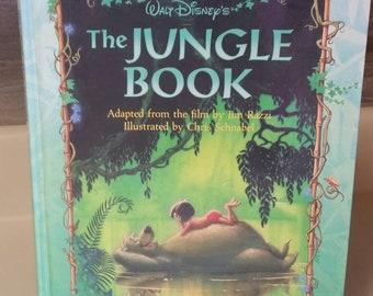 "Walt Disney's ""The Jungle Book"" Adapted by Jim Razzi/Vintage 1992 Childrens Book/Disney Press Storybook/Classic Stories/Mowgli/Baloo/Man-Cub"