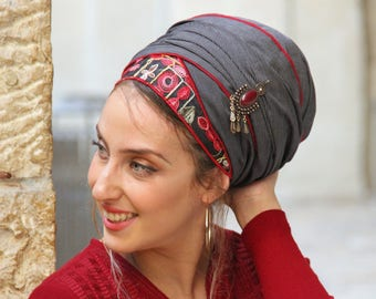 Winning Shakked Headscarf Or Sinar TICHEL, Hair Snood, Chemo, Head Scarf, Red Head Covering, Jewish Headcovering, Scarf, Bandana, Apron