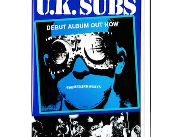 UK Subs Vinyl Sticker - Another Kind of Blues - Punk - Charlie Harper - 1977 - Punk Sticker - Punk Rocker