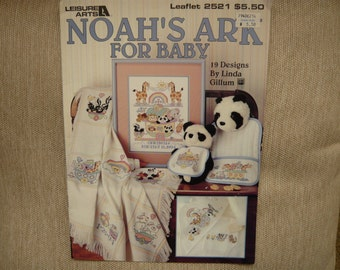 Noah's Ark For Baby counted cross stitch patterns - 19 Designs by Linda Gillum