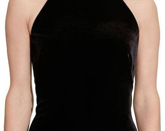 Lauren Ralph Lauren Velvet Halter Dress