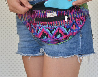 Funky Cotton Utility Belt, Festival Belt, Pocket Belt, Bum Bag, Hip Bag, Festival Fanny Pack//LIMITED STOCK//
