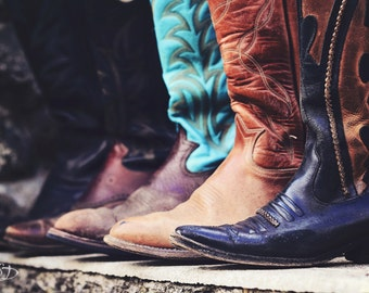 These Boots, cowboy boots, cowgirl boots, fine art print, wall art, ranch photo, photo, photograph