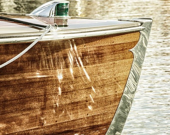 Vintage Wooden Boat 8 X 10 Photograph