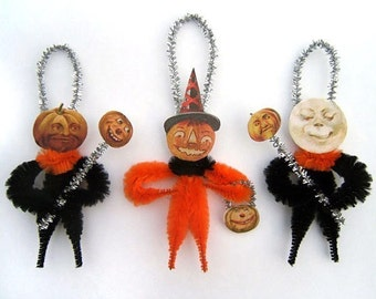 Halloween Decoration Ornaments - Chenille Ornaments - Halloween Decor