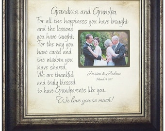 Wedding Gift for Grandparents, Personalized Photo Frame, 16x16