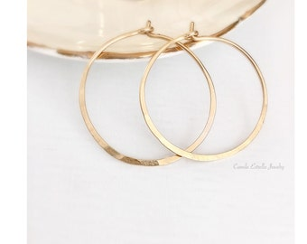 14K Gold Earrings, Hoop Earrings, 14K Gold Hoop Earrings, Gold Hoop Earrings, Gold Earrings, Rose Gold Earrings, Small Hoop Earrings