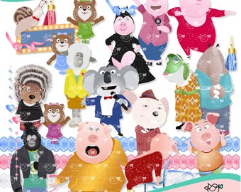 Sing Clipart instant download PNG file - 300 dpi