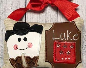 Cowboy Tooth Fairy Pillow