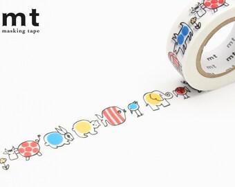 15mm width | MT × Lisa Larson - Baby Mikey Washi Masking Tape