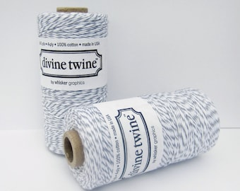 Oyster Divine Twine- full spool, 240 yards, gray and white, cotton string, bakers twine