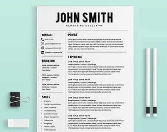 Professional Resume Templates Modern Resume by KingdomOfDesigns
