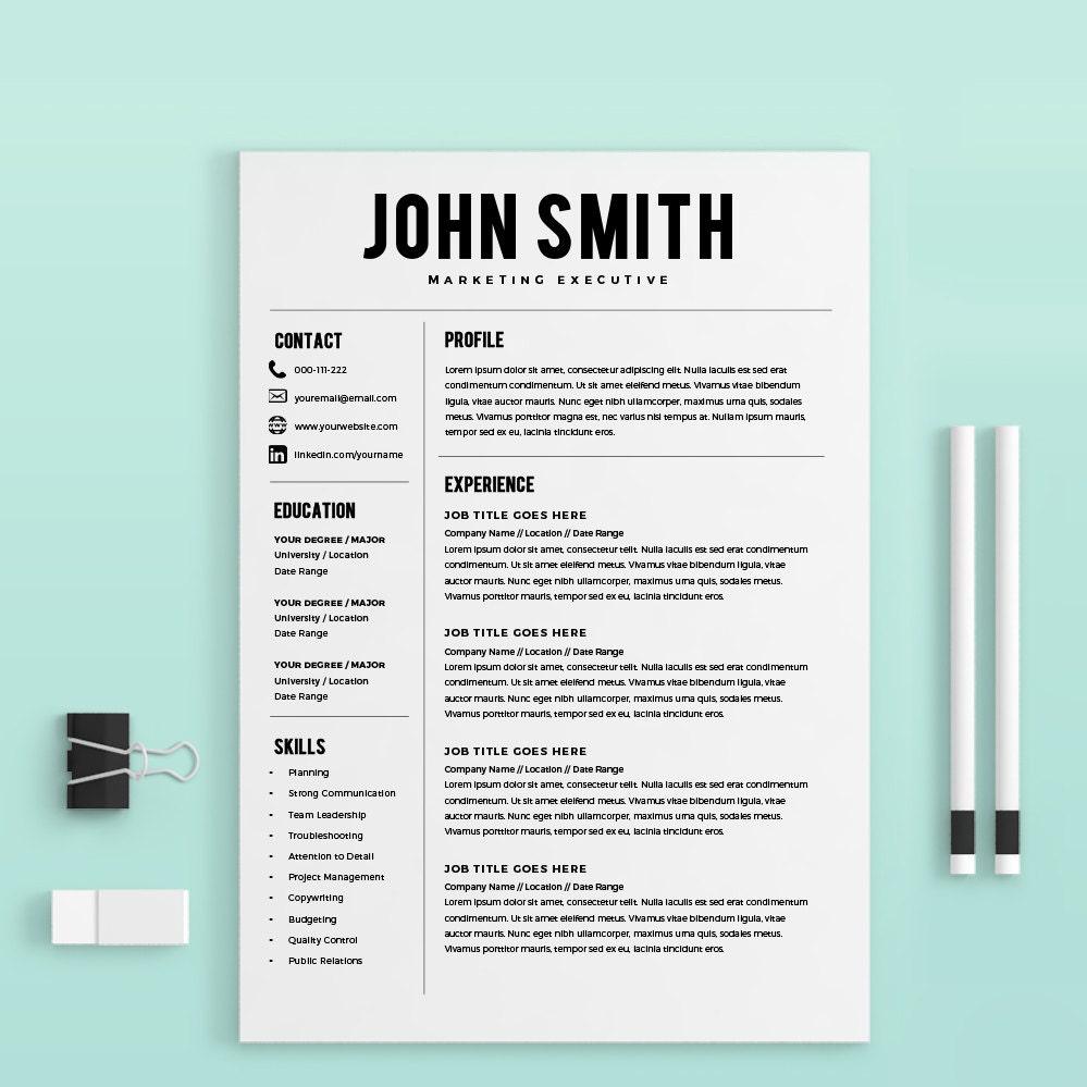 Resume Template Resume Builder Cv Template Cover Letter