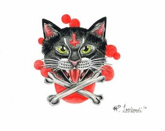Hissing Kitty Print