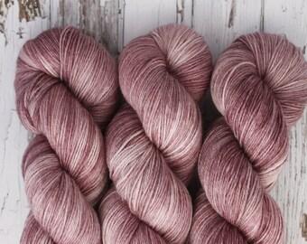 Merlot - Hand Dyed Yarn - Sock Yarn - Fingering Yarn - Superwash Merino / Nylon - 100 gms