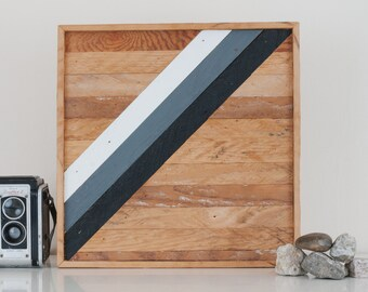 "12""x12"" Stark & Steel Series #208 || Modern Reclaimed Artworks"