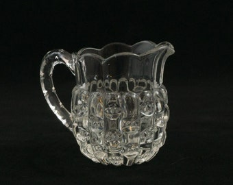 Vintage Clear Glass Individual Mini Creamer Syrup Pitcher ca 1950
