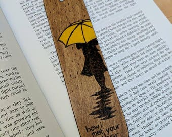 How I Met Your Mother Wooden Bookmark