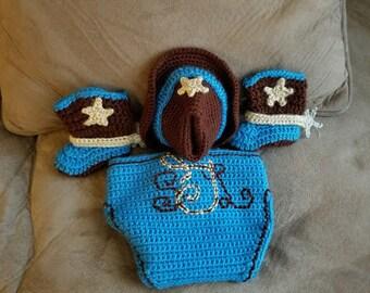 Made to order Baby cowboy set.