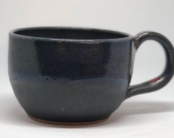 Black and Blue Tea Cup