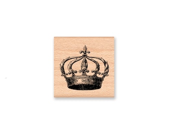 QUEENS CROWN -Wood Mounted Rubber Stamp (MCRS 27-07)