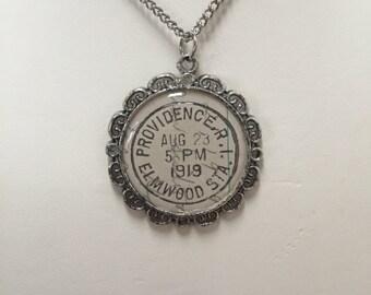Providence, RI Vintage Postmark Necklace