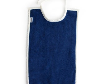 Baby Toddler Bib Cotton Large Long For Eating - Color: BLUE
