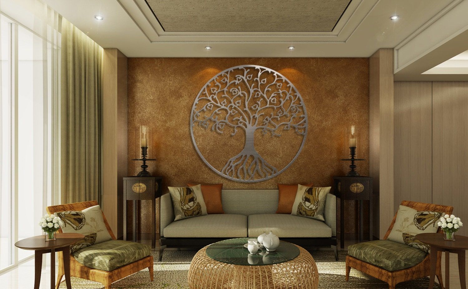 Brown Metal Wall Decor Tree Of Life Metal Wall Art Metal Tree Wall Art Circle Wall