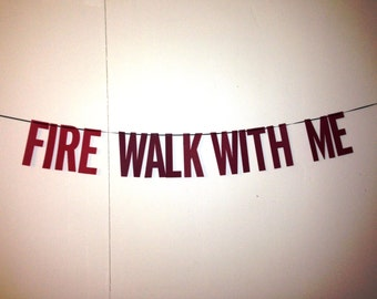 Twin Peaks | Fire Walk With Me Handmade | Party Banner