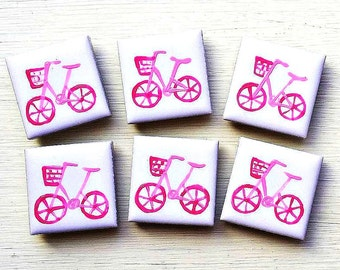 Pink Bike Magnet, Fridge Magnet, Stationary Magnets, Gift for Teacher, Refrigerator Magnet, Cycling Gift, Bicycle, Gift for Girls, For Her