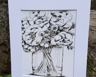 Peony Bouquet Print