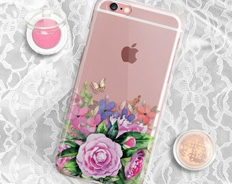 iPhone 7 Case Clear Floral iPhone 6S case Rubber iPhone 6 case Clear iPhone 7 Plus case Clear iPhone 6 Plus Case Rubber iPhone 6s case