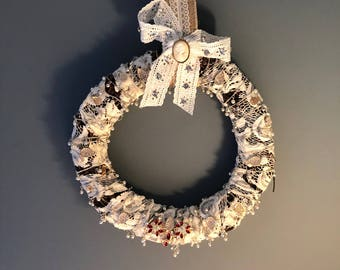 Victorian, Lace and Jewelry Fashion/Shabby Chic Wreath