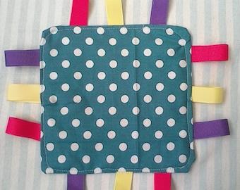Polka dot crinkle sensory toy
