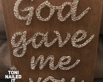 God Gave Me You Blake Shelton Typography Song Lyric Art Print