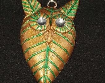 Leaf Owl Pendant